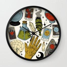 Fortune Teller Starter Pack Color Wall Clock