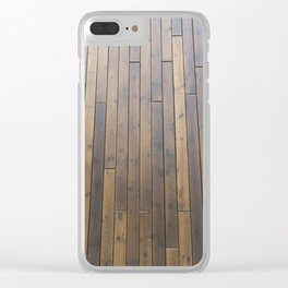 brown wall Clear iPhone Case