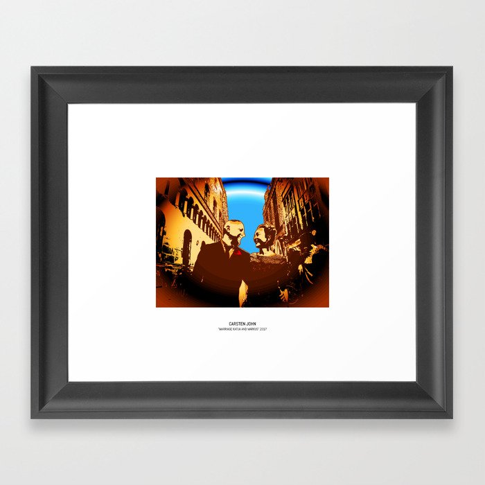 MARRIAGE K&M Framed Art Print