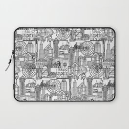 Seattle black white Laptop Sleeve