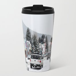 Downtown Crested Butte, Colorado During Winter Time Travel Mug