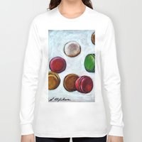 macarons Long Sleeve T-shirts featuring Macarons by Nath Chipilova