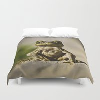 frog Duvet Covers featuring Frog  by Jimmy Duarte