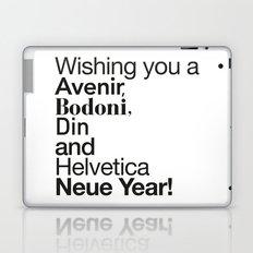 Happy Helvetica Neue Year 2014 Laptop & iPad Skin
