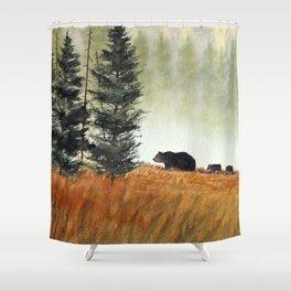 Roaming Bears In West Virginia Shower Curtain