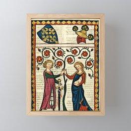 Codex Manesse: Bernger von Horheim Framed Mini Art Print