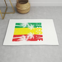 Reggae Jamaican Vacation product Gift Palm Tree Silhouette Rug