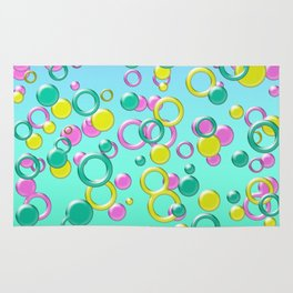 Abstract colorful bubbles 170 Rug