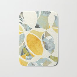 modern mid century, Graphic art, neutral colors, geometric art, circles, modern painting, abstract p Bath Mat