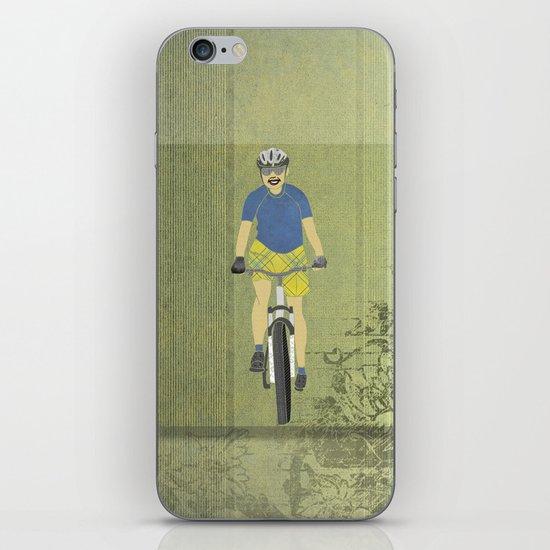 Bicycle Girl 2 iPhone & iPod Skin