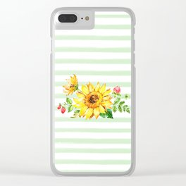 Summer Sunflower Clear iPhone Case