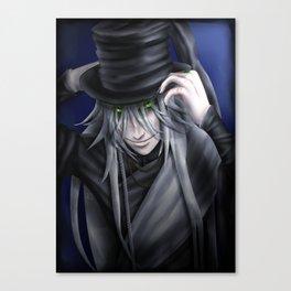 Undertaker Hat Tip Canvas Print