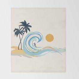 Minimalistic Summer II Throw Blanket
