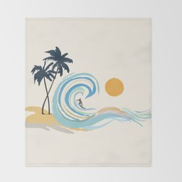 Minimalistic Summer II Throw Blanket