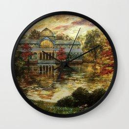 Pinturas Palacio de Cristal - Madrid - Paintings Crystal Palace Wall Clock