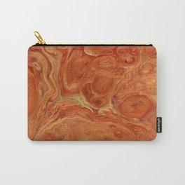 Burnt Orange Fire Lava Flow Carry-All Pouch