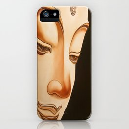 Tranquil oil painting of a peaceful Buddha  iPhone Case