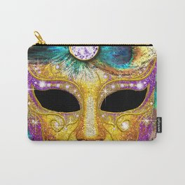 Golden Carnival Mask Carry-All Pouch