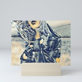 Punk Rocker Mini Art Print