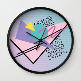 Memphis pattern 44 - 80s / 90s Retro Wall Clock