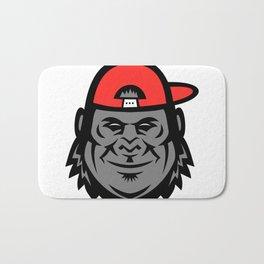 Gorilla Wearing Cap Mascot Bath Mat