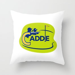 Caddie and Golfer Golf Course Icon Throw Pillow