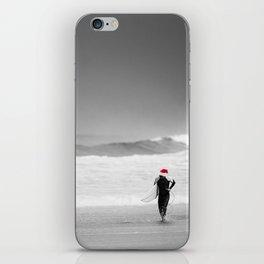 surf santa - shore walk iPhone Skin