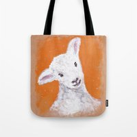 sheep Tote Bags featuring Sheep by KeithKarloff