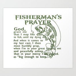 Fisherman's Prayer Art Print