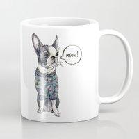 boston terrier Mugs featuring Boston terrier by Bananastuff