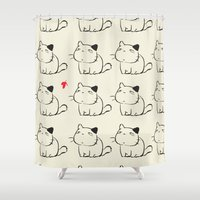 cats Shower Curtains featuring cats by ururuty