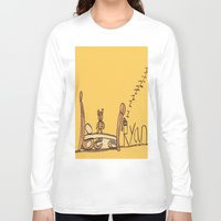 bed Long Sleeve T-shirts featuring Ryan's Bed by Ryan van Gogh