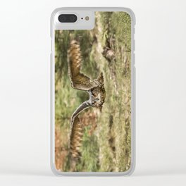 Eagle Owl In Flight Clear iPhone Case