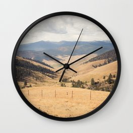 The Montana Collection - Wide Open Spaces Wall Clock