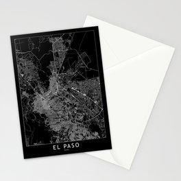 El Paso Black Map Stationery Cards
