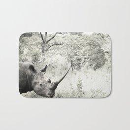 africa is a feeling - rhinocerous Bath Mat