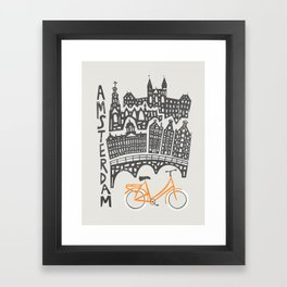 Amsterdam Cityscape Framed Art Print