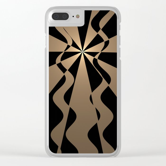 Trendy abstract in gold and black Clear iPhone Case