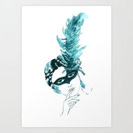 Feather Lady Art Print