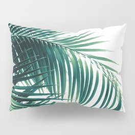 Palm Leaves Green Vibes #6 #tropical #decor #art #society6 Pillow Sham