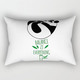 Balance Is Everything! Tumbling panda Rectangular Pillow