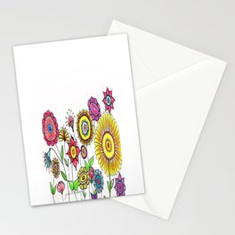 Bright Flowers II Stationery Cards