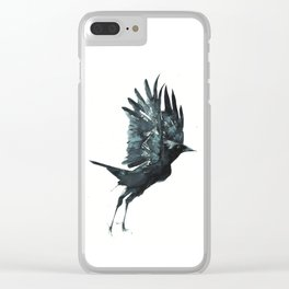 Crow Taking Off Clear iPhone Case