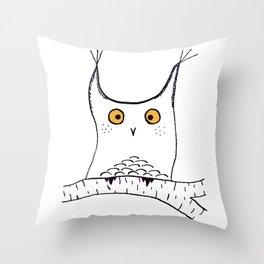 Squarish Owl Throw Pillow