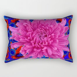 ROSE Lilac Spider Mum FLOWER Blue-orange GARDEN Rectangular Pillow