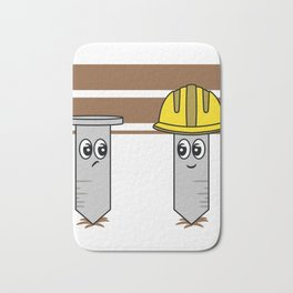 Cute and Unique This Nails Construction Worker Has Serious Cuteness Overload Bath Mat