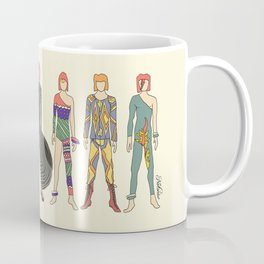 7 Red Heroes Heads Coffee Mug