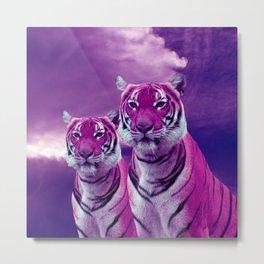 Purple Tiger Metal Print