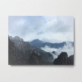 Yellow Mountains Metal Print