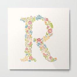 Alphabet R Metal Print
